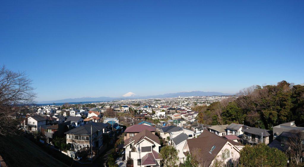 スマホでパノラマ富士